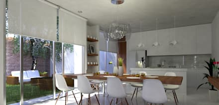 minimalistic Dining room by EMERGENTE | Arquitectura
