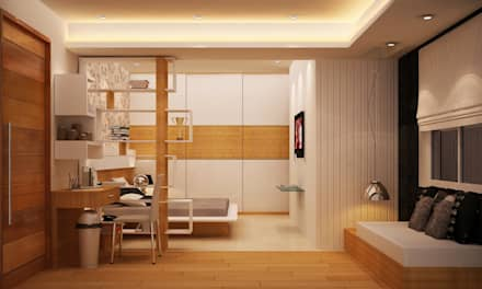moderne Schlafzimmer von Schaffen Amenities Private Limited