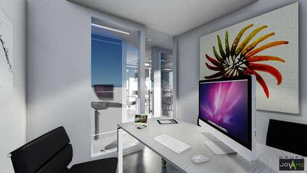 Oficina Legacys, Centro Plaza: Oficinas de estilo minimalista por Grupo JOV Arquitectos
