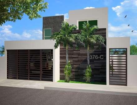 Casas minimalistas homify homify for Modelos de fachadas para frentes de casas