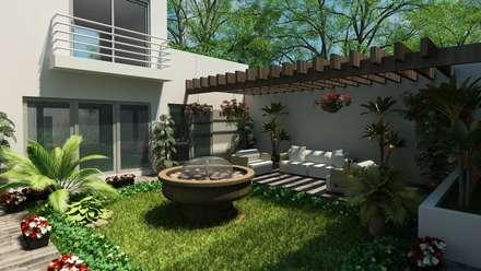 area jardin jardines de estilo moderno por ollin arquitectura - Diseo De Jardines Pequeos