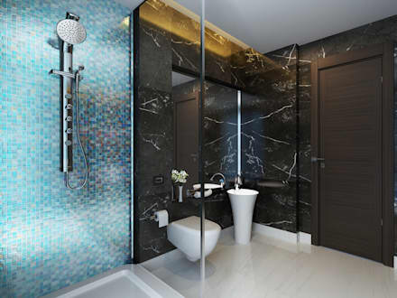 : modern Bathroom by Koncept Architects & Interior Designers