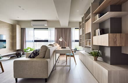 Oficinas de estilo minimalista por 思維空間設計
