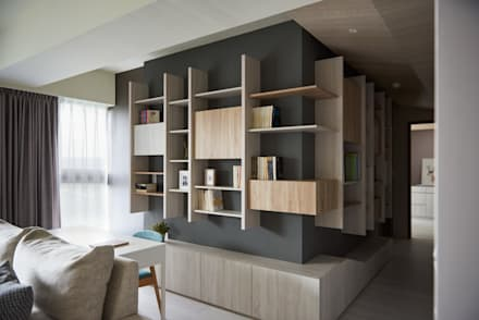 minimalistic Study/office by 思維空間設計