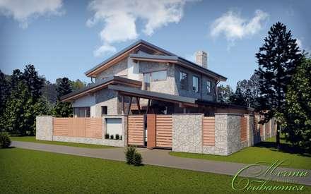 Дом с мотивами северо-западной американской архитектуры: Дома в . Автор – Компания архитекторов Латышевых 'Мечты сбываются'
