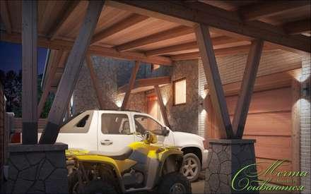 colonial Garage/shed by Компания архитекторов Латышевых 'Мечты сбываются'