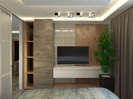 Проект загородного двухэтажного дома: Медиа комнаты в . Автор – blackcat design