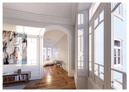 MAH: Quartos minimalistas por a*l - alexandre loureiro arquitectos