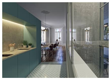 Nhà bếp by a*l - alexandre loureiro arquitectos