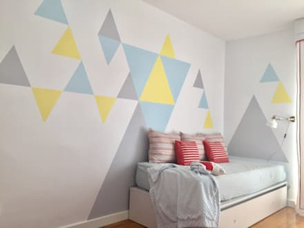 Más espacio: Dormitorios infantiles de estilo escandinavo de Noelia Villalba