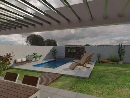Vivienda JG: Jardines de estilo moderno por Gastón Blanco Arquitecto