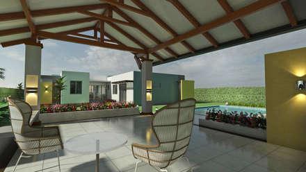 Kiosco area social: Piscinas de estilo moderno por Arquitecto Pablo Restrepo