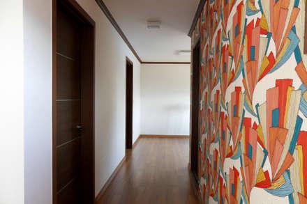팀버하우스 포천 가족주택 프로젝트: Timber house의  복도 & 현관