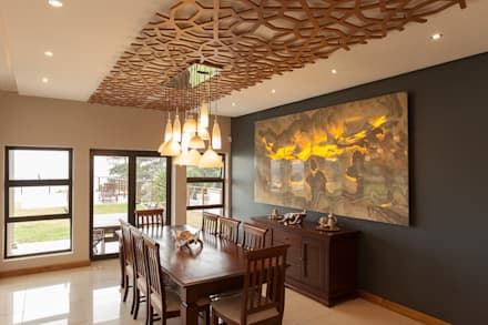 House naidoo modern dining room by redesign interiors