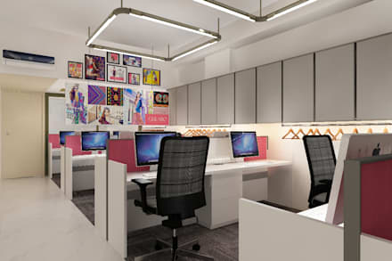 workstation area: scandinavian Study/office by Neelanjan Gupto Design Co