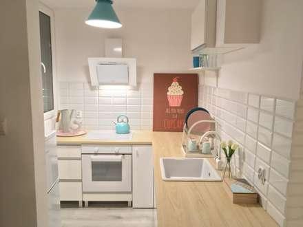 Pastelowe M 3: styl , w kategorii Kuchnia zaprojektowany przez Pasja Do Wnętrz