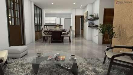Diseño interior sala, comedor: Salas de estilo clásico por Arquitecto Pablo Restrepo