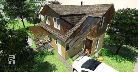 Disposición hacia el patio: Casas de estilo ecléctico por Christian Fierro Estudio