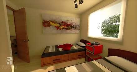 : Dormitorios de estilo ecléctico por Christian Fierro Estudio