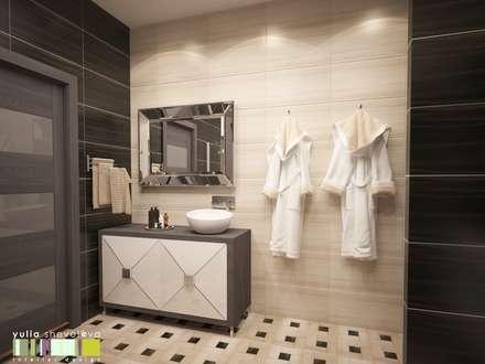 ЗАПОВЕДНЫЙ КРАЙ: Ванные комнаты в . Автор – Мастерская интерьера Юлии Шевелевой