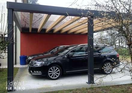 Garage rimessa in stile moderno idee homify for Kit per posto auto coperto