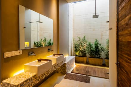 Baño: Baños de estilo moderno por Arquitectura en Estudio