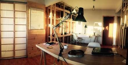 Modulo de trabajo_Oficinas Taller Independiente Arquitectura & Construccion: Estudios y biblioteca de estilo  por Taller Independiente - Arquitectura & Diseño