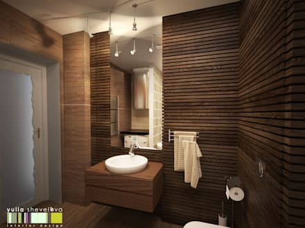 eclectic Bathroom by Мастерская интерьера Юлии Шевелевой