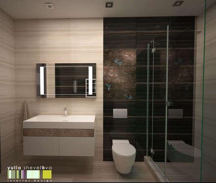 ВЫСОКИЙ ПОЛЕТ: Ванные комнаты в . Автор – Мастерская интерьера Юлии Шевелевой