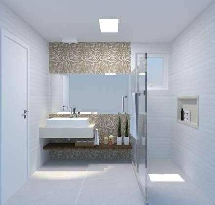 Banheiro 01: Banheiros modernos por Arquitetura em Cena