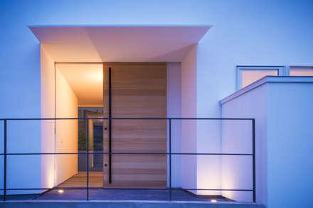 千里山の2世帯住宅|玄関: 奥和田健建築設計事務所|okuwada architects officeが手掛けた玄関/廊下/階段です。