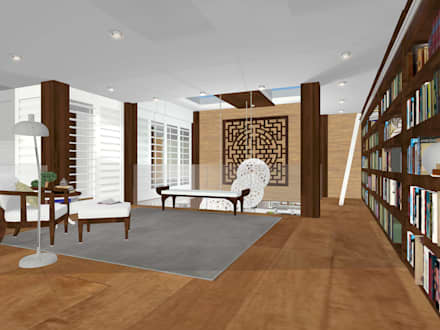 HOUSE M: mediterranean Living room by Kirsty Badenhorst Interiors