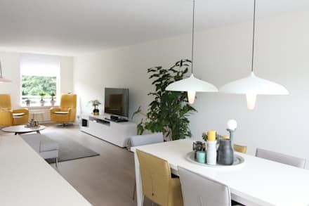 Compleet interieurontwerp met begeleiding en styling: moderne Eetkamer door JO&CO interieur