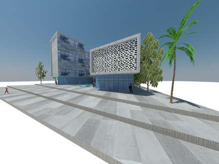 concurso edificio publico: Clínicas / Consultorios Médicos de estilo  por ARQUITECTURA VANGUARDIA