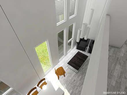 Proyecto Inmobiliario Refugio Alma : Paredes y pisos de estilo moderno por Smartlive Studio