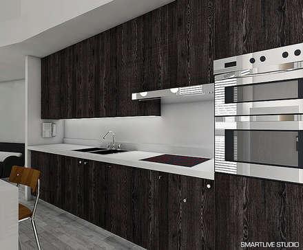 proyecto refugio alma cocinas de estilo moderno por smartlive studio