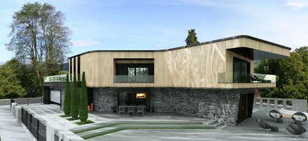 ÖZHAN HAZIRLAR İÇ MİMARLIK – Villa Devren: modern tarz Evler