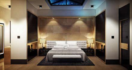 ÖZHAN HAZIRLAR İÇ MİMARLIK – Villa Devren: modern tarz Yatak Odası