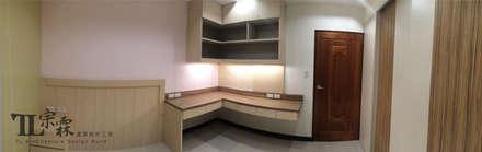 女兒房書桌:  嬰兒/兒童房 by 宗霖建築設計工程