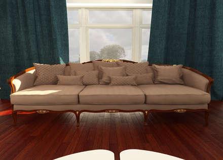 Sofa:  غرفة المعيشة تنفيذ OS Line