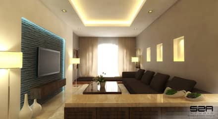Residential: modern Living room by S2A studio