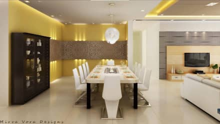 3D Designs By Mirva Vora Designs.: modern Dining room by Mirva Vora Designs