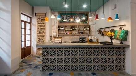 Detalle Barra de Jugos: Locales gastronómicos de estilo  por KDF Arquitectura