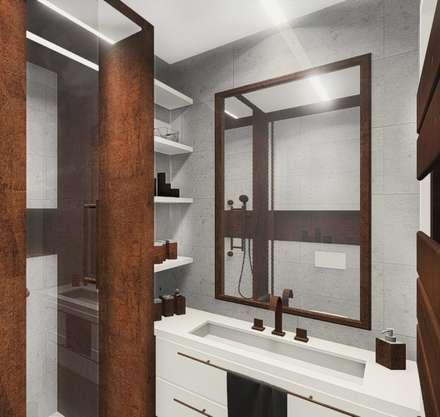 Industral apartment: industrial Bathroom by KOKON zespół architektoniczny