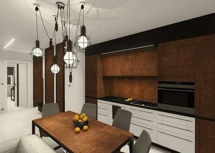 Industral apartment: industrial Kitchen by KOKON zespół architektoniczny