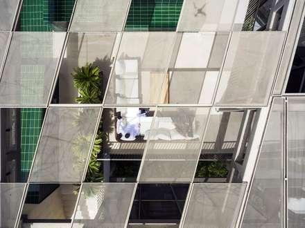 Three Gardens House: Jardines de invierno de estilo moderno de AGi architects