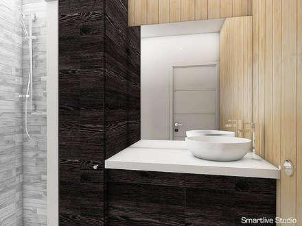 Proyecto inmobiliario Horizonte: Baños de estilo moderno por Smartlive Studio
