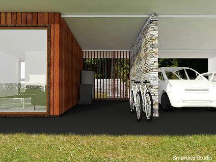 Proyecto inmobiliario Horizonte: Garages de estilo moderno por Smartlive Studio