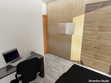Proyecto inmobiliario Horizonte: Dormitorios infantiles de estilo moderno por Smartlive Studio