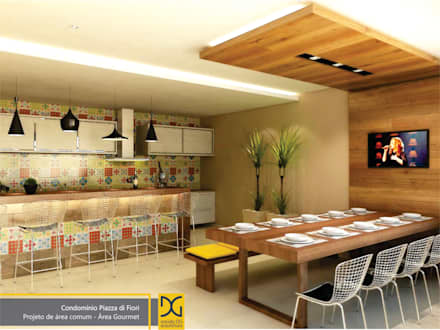 مطاعم تنفيذ Estúdio DG Arquitetura